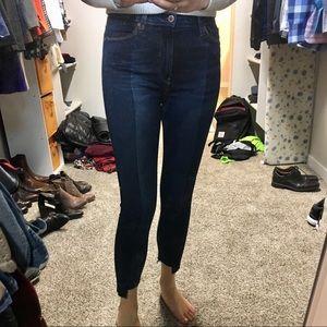 Hudson Barbara High Rise Skinny Step Hem